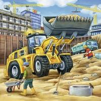 thumb-Grote bouwvoertuigen - 3 x 49 stukjes-1