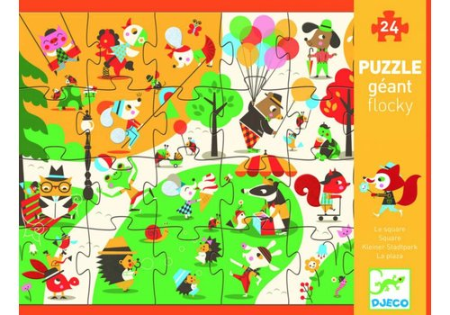 Busy in the park - tactile puzzle 24 pieces
