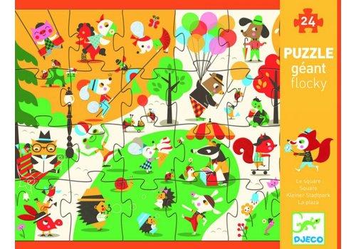 La foule dans le parc - le puzzle tactile 24 pièces