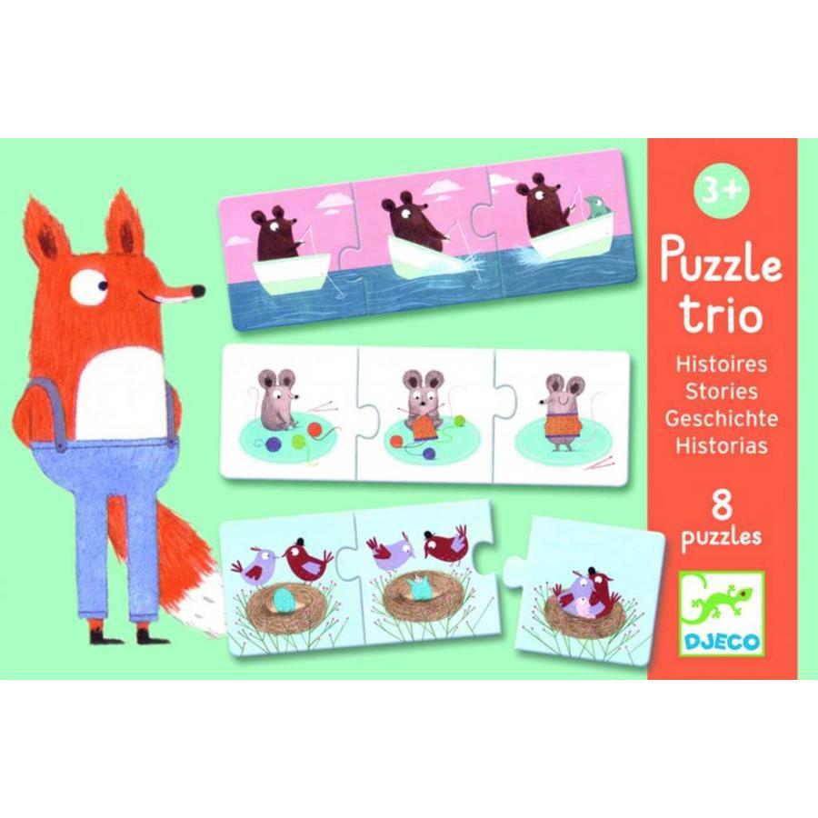 Puzzel trio - Verhaaltjes - 8 x 3 stukjes-1