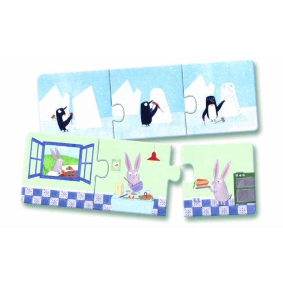 Puzzel trio - Verhaaltjes - 8 x 3 stukjes-2