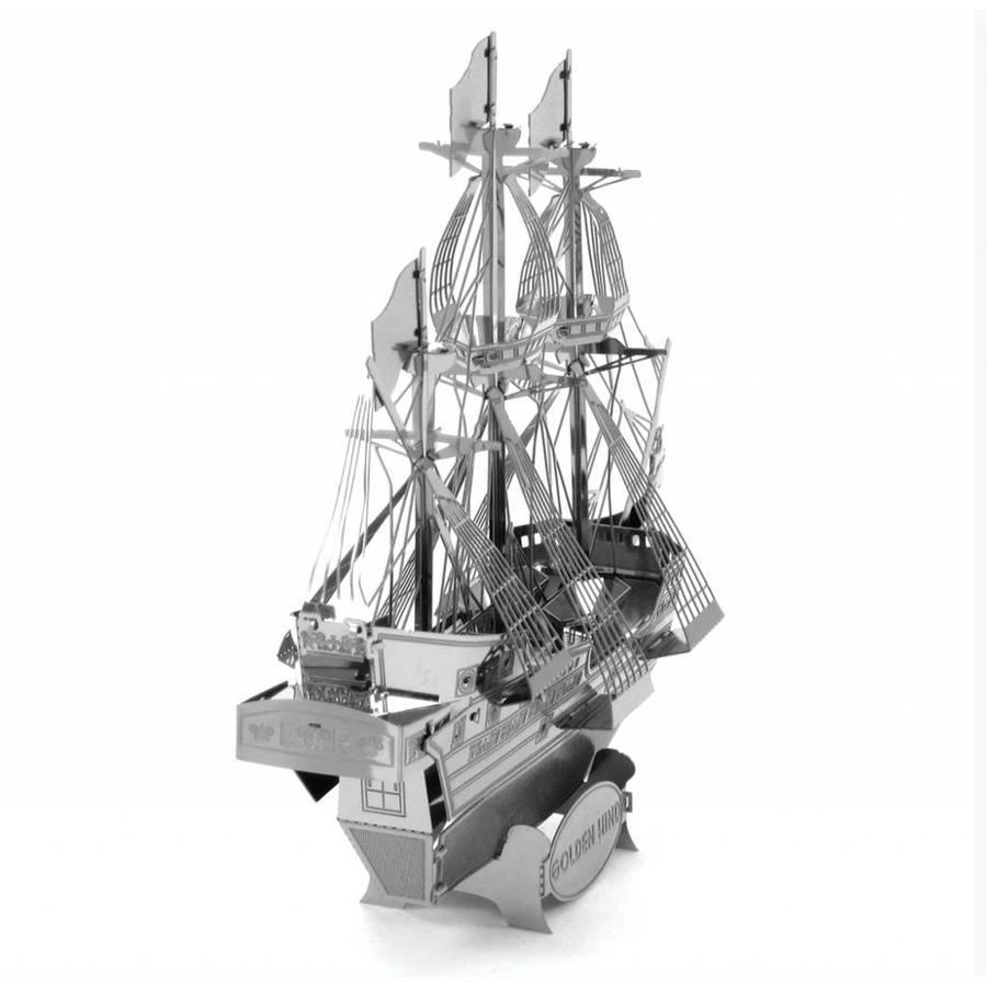 Driemaster Golden Hind - 3D puzzel-3
