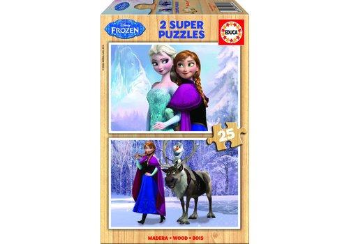 WOOD: Frozen - 2 x 25 pieces