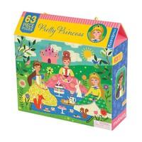 thumb-Op theekransje met prinsesjes - legpuzzel van 63 stukjes-1