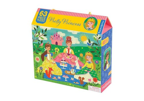 Mudpuppy On tea party with princesses - 63 pieces