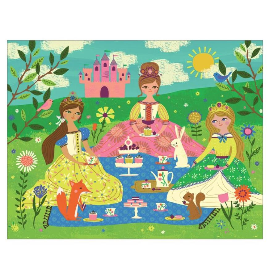 Op theekransje met prinsesjes - legpuzzel van 63 stukjes-2