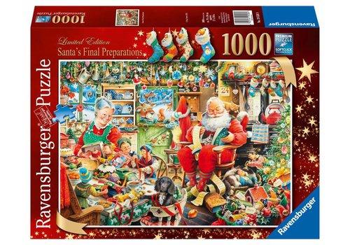 Kerstman's laatste voorbereidingen - 1000 stukjes