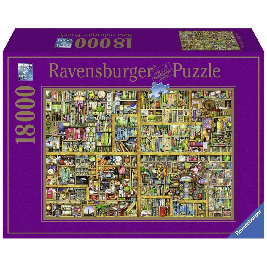 Magic bookcase - puzzle of 18000 pieces-1