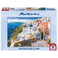 thumb-Zicht op het wondermooie Santorini - 1000 stukjes-1