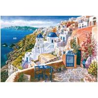 thumb-Zicht op het wondermooie Santorini - 1000 stukjes-2