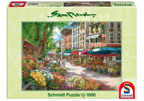 The flower market in Paris - 1000 pieces