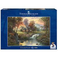 thumb-Bergrust - Thomas Kinkade - puzzel van 1000 stukjes-1