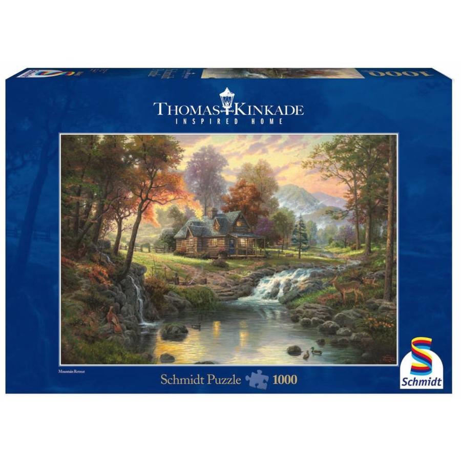 Bergrust - Thomas Kinkade - puzzel van 1000 stukjes-1