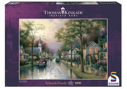 Schmidt Morning glow in the small town - 1000 pieces