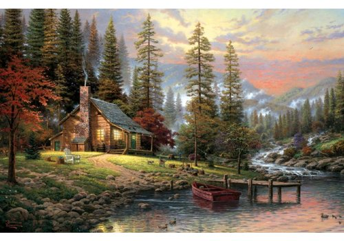 Huis in de bergen - 500 stukjes
