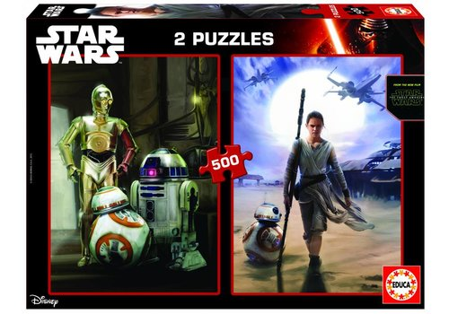 Star Wars - The force awakens - 2 x 500 pieces puzzle