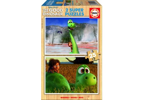 HOUT: The Good Dinosaur - 2 x 25 stukjes