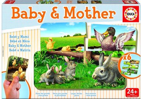 Moeder en baby - 6 x 2 stukjes