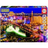 thumb-Las Vegas - Glow in the Dark - 1000 stukjes-1