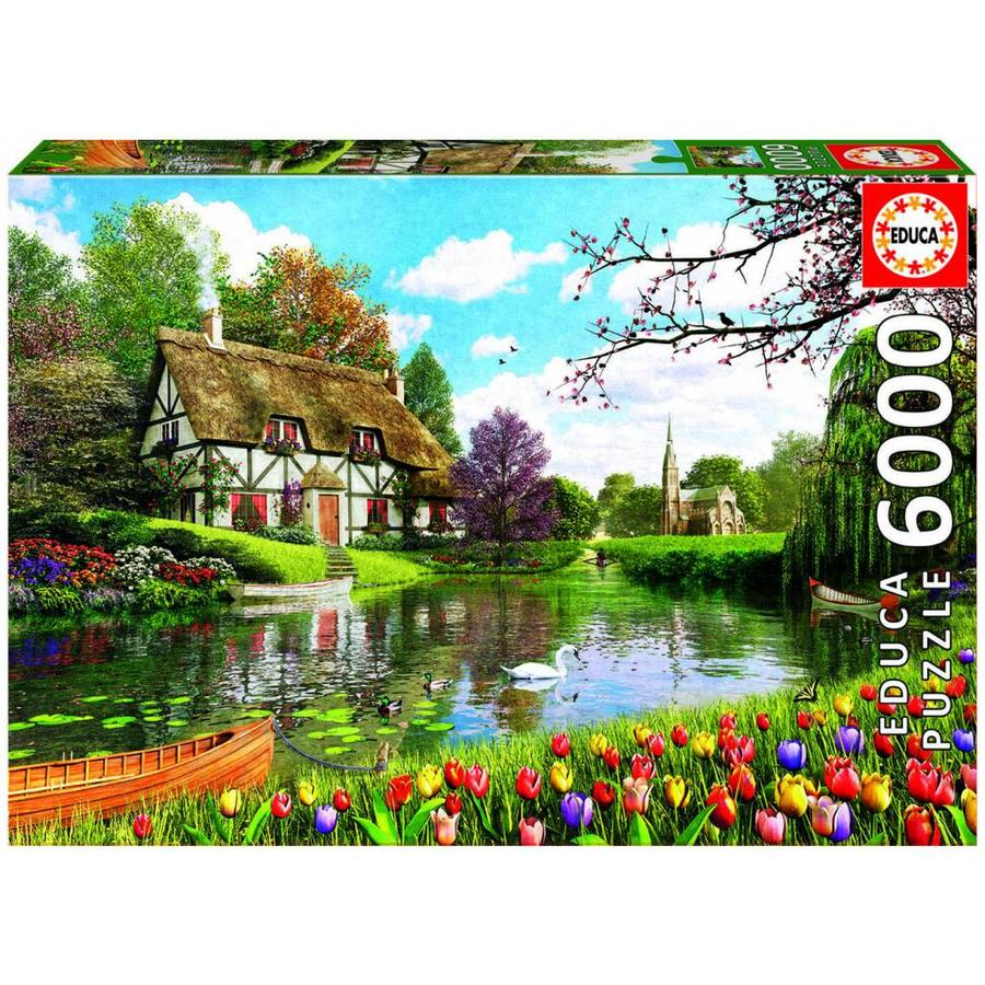Cottage in the spring - 6000 pieces-1
