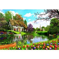 thumb-Cottage in the spring - 6000 pieces-2