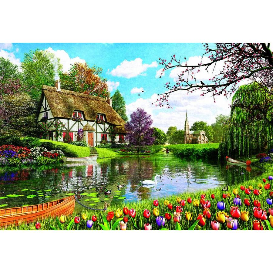 Cottage in the spring - 6000 pieces-2