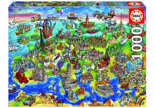 Symbolen van Europa - 1000 stukjes