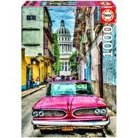 thumb-Oldtimer in Havana - puzzel van 1000 stukjes-1
