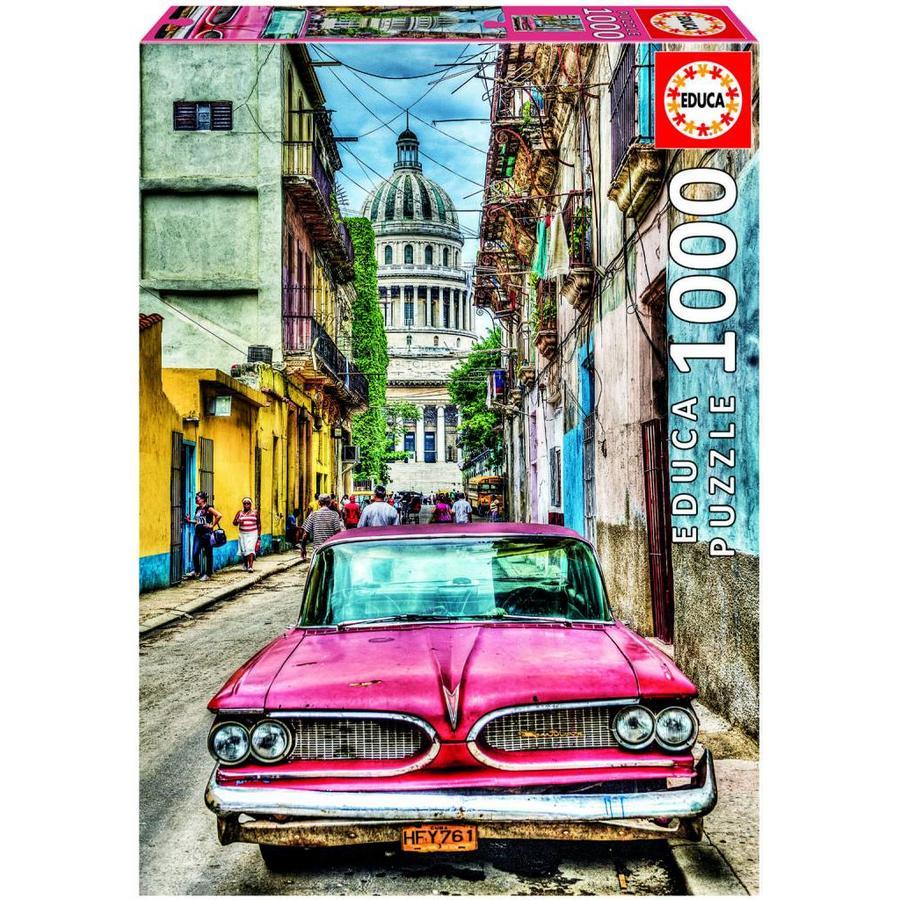 Oldtimer in Havana - puzzel van 1000 stukjes-1
