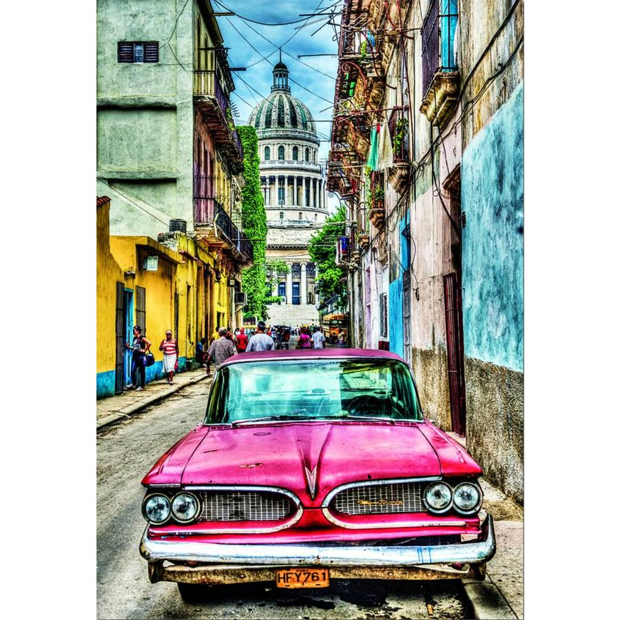 Oldtimer in Havana - puzzel van 1000 stukjes-2