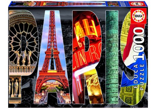 Collage van Parijs - 1000 stukjes