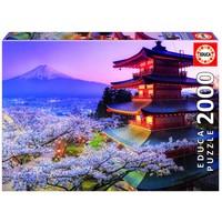 thumb-De Fuji vulkaan in Japan - puzzel 2000 stukjes-1