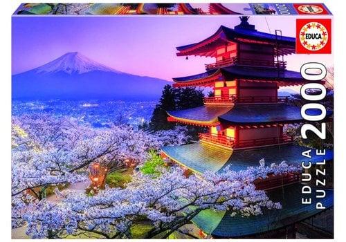 Educa Le volcan Fuji au Japon - puzzle 2000 pièces