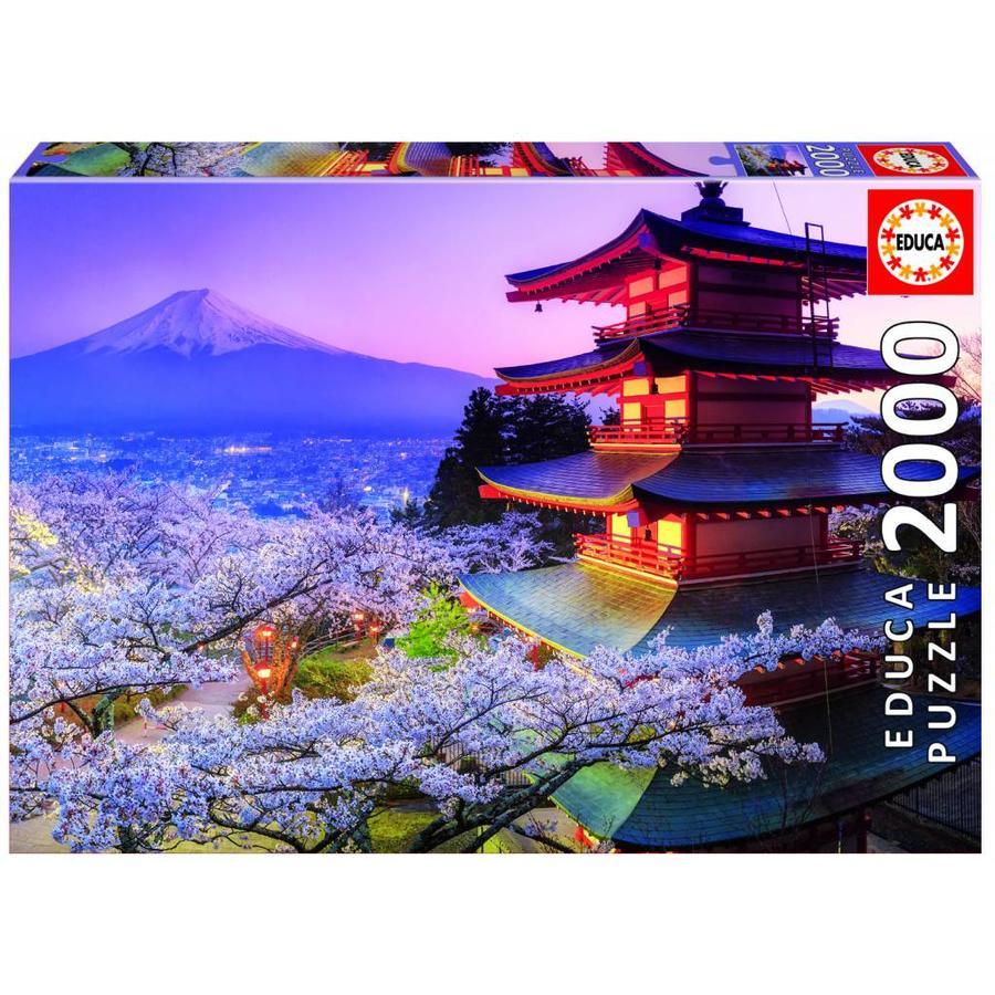 De Fuji vulkaan in Japan - puzzel 2000 stukjes-1