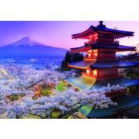 thumb-De Fuji vulkaan in Japan - puzzel 2000 stukjes-2