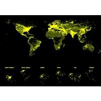 thumb-Wereldkaart - Glow in the Dark - puzzel 1000 stukjes-3
