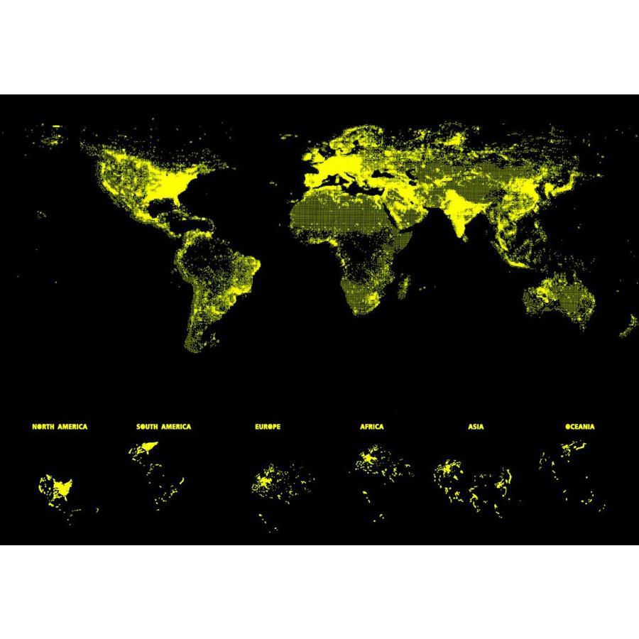 Wereldkaart - Glow in the Dark - puzzel 1000 stukjes-3