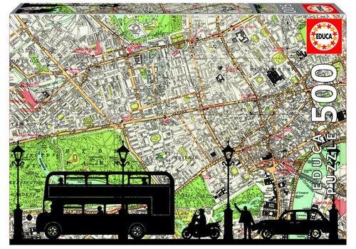 Rush Hour in Londen - Puzzel 500 stukjes