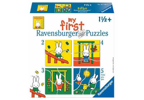Ravensburger Miffy - Puzzles 2, 3, 4 and 5 pieces