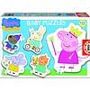 Educa 5 puzzeltjes van Peppa Pig - van 3 tot 5 stukjes