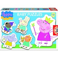 5 puzzles of Peppa Pig - from 3 to 5 pieces