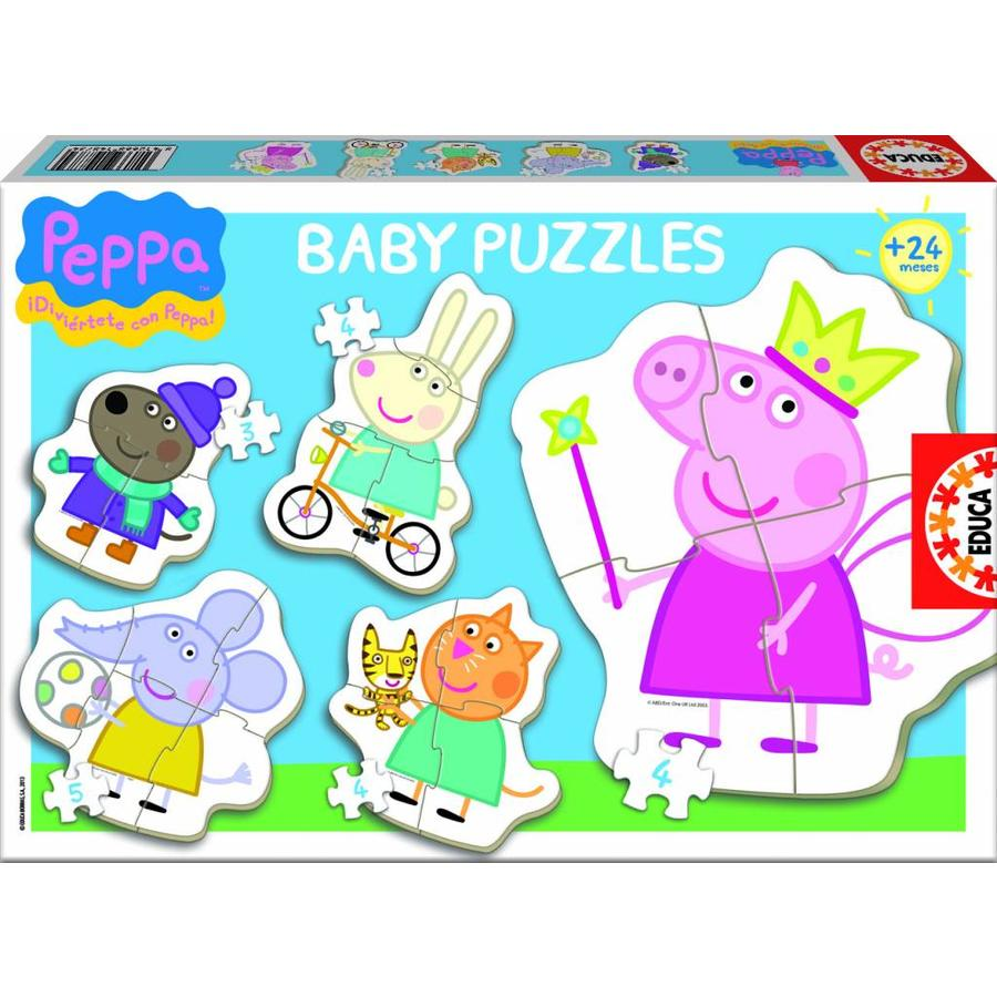 5 puzzles of Peppa Pig - from 3 to 5 pieces-1