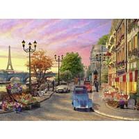 thumb-Avondsfeer in Parijs - puzzel van 500 stukjes-1