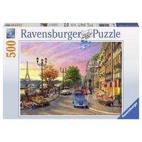 thumb-Ambiance de soirée à Paris - puzzle de 500 pièces-2