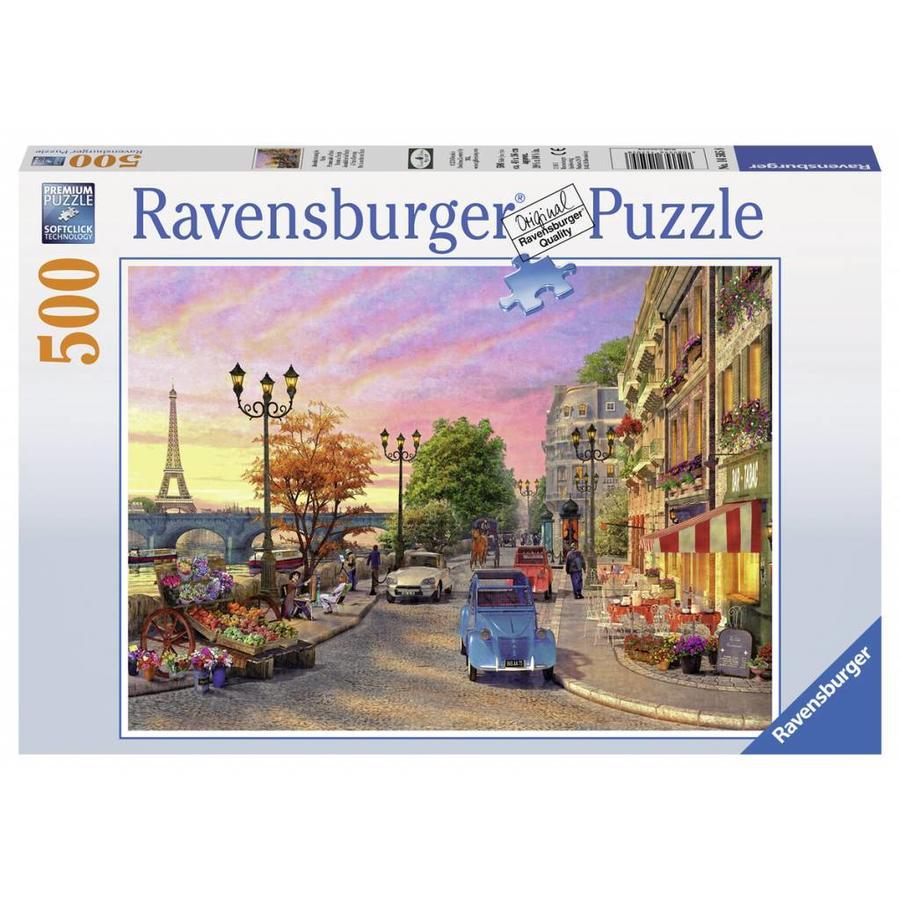 Avondsfeer in Parijs - puzzel van 500 stukjes-2