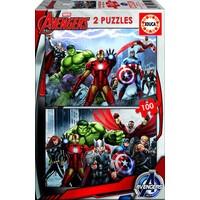 Avengers - 2 puzzels van 100 stukjes