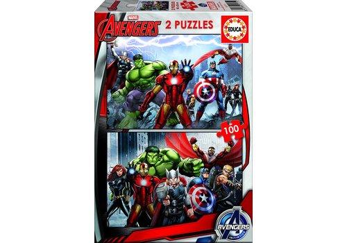 Educa Avengers - 2 puzzles de 100 pieces