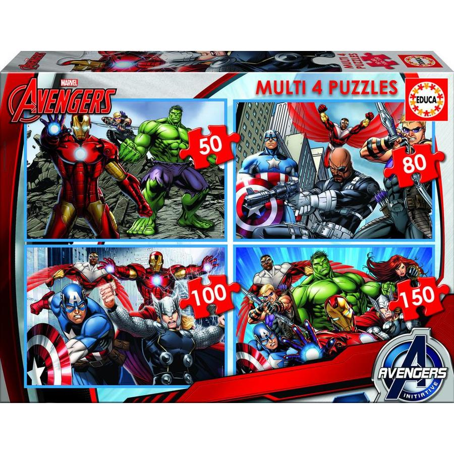 Avengers - 4 puzzles of 50/80/100/150 pieces-1