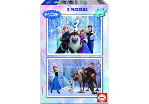 Educa Frozen - 2 puzzles of 100 pieces