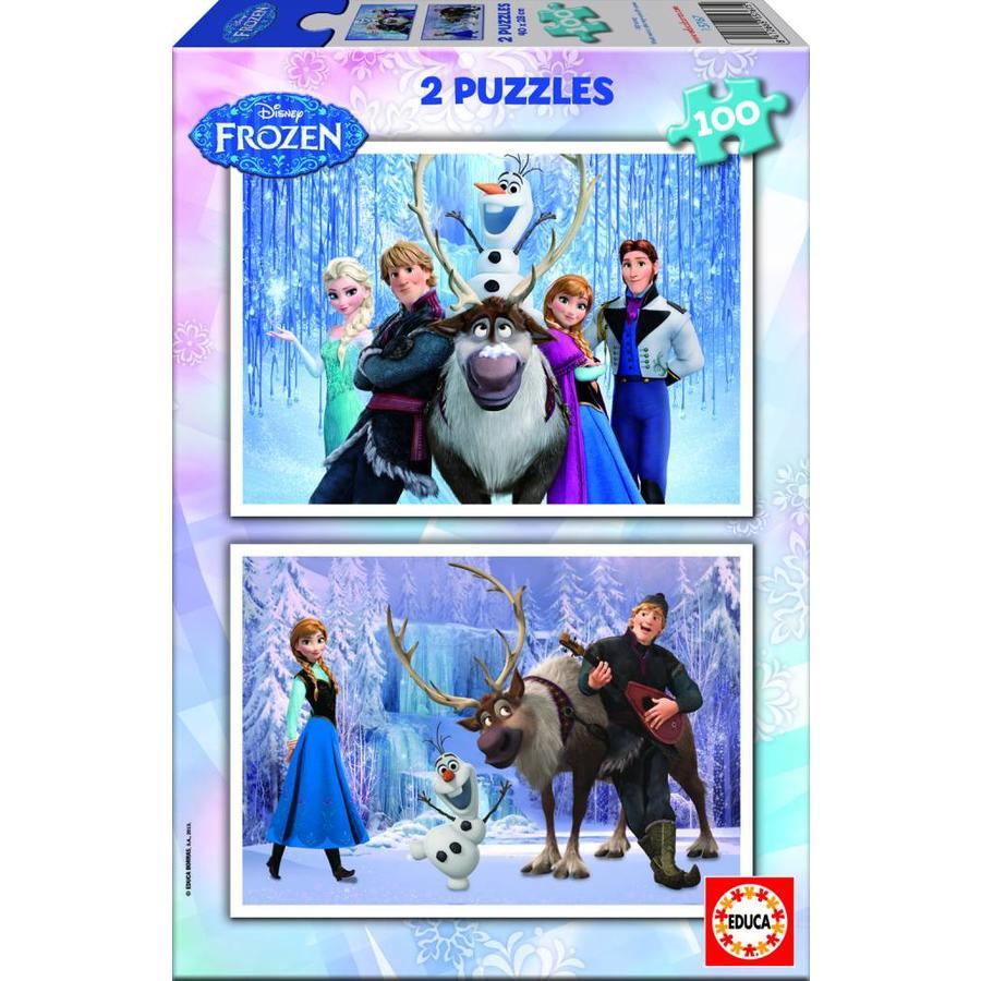 Frozen - 2 puzzels van 100 stukjes-1